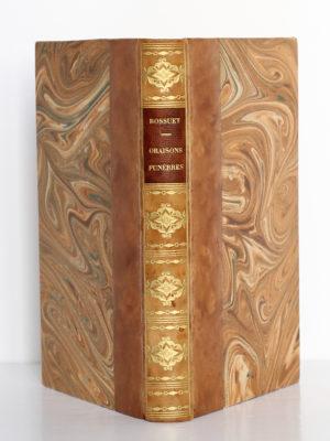 Oraisons funèbres, Bossuet. Librairie des bibliophiles Jouaust / E. Flammarion, sans date. Reliure : dos et plats.