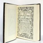 Le Traité de la peinture, Léonard de Vinci. Chez Jean de Bonnot, 1982. Page titre.