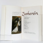 Zurbaran, catalogue 1987. Sous la direction de Jeannine Baticle. The Metropolitan Museum of Art, 1987. Frontispice et page titre.