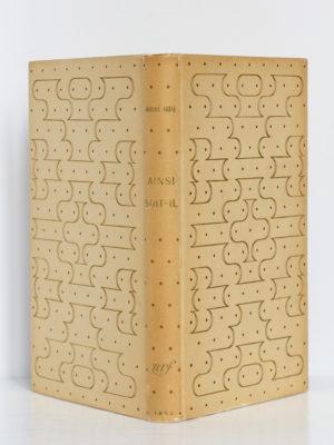 Ainsi soit-il ou Les jeux sont faits, André Gide. nrf-Gallimard, 1952. EO. Reliure Bonet : dos et plats.