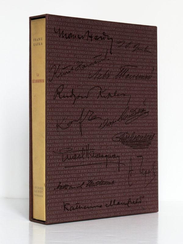 La métamorphose et autres nouvelles, Franz Kafka. Imprimerie Nationale/André Sauret, 1957. Livre dans son étui.