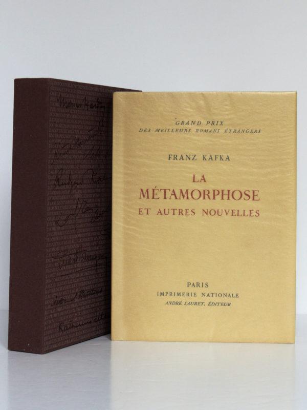 La métamorphose et autres nouvelles, Franz Kafka. Imprimerie Nationale/André Sauret, 1957. Couverture et étui.