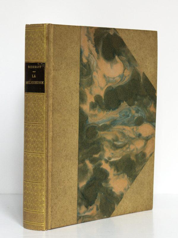 La Religieuse, Denis Diderot. Illustrations de Victor Lhuer. Éditions Arc-en-Ciel, 1943. Reliure : dos et premier plat.