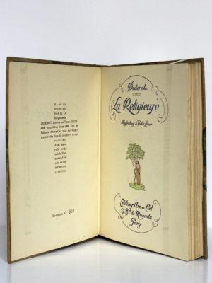 La Religieuse, Denis Diderot. Illustrations de Victor Lhuer. Éditions Arc-en-Ciel, 1943. Justificatif de tirage et page titre.