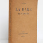 La rage au ventre, Joseph Kessel. Éditions EOS, 1927. Couverture : dos et premier plat.