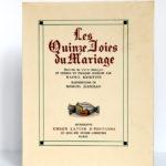 Les Quinze Joies du Mariage. Illustrations de Marcel Jeanjean. Union latine d'éditions, 1937. Couverture.