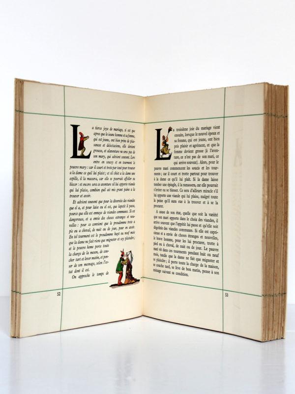 Les Quinze Joies du Mariage. Illustrations de Marcel Jeanjean. Union latine d'éditions, 1937. Pages intérieures 2.