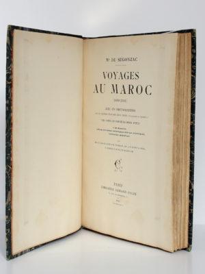 Voyages au Maroc (1899-1901), Marquis de Ségonzac. Librairie Armand Colin, 1903. Page titre.