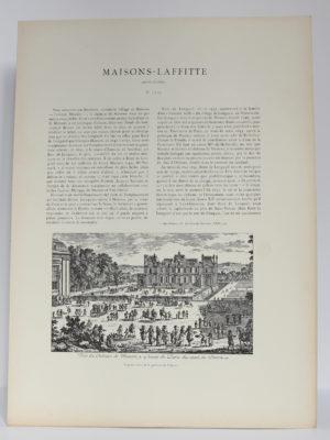Les Anciens châteaux de France – L'Île-de-France. Champlatreux – La Roche-Guyon – Maisons-Laffitte – Osny, Paul Jarry. Chez F. Contet, 1924. Pages intérieures.