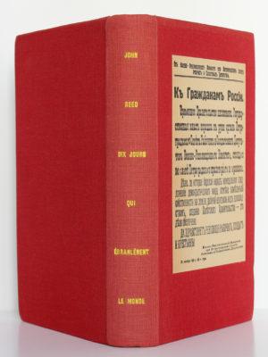 Dix jours qui ébranlèrent le monde, John Reed. Le Club français du livre, 1958. Reliure : dos et plats.