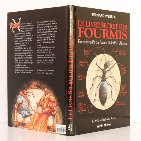 Le Livre secret des fourmis, Bernard Werber. Albin Michel, 1993. Couverture : dos et plats.