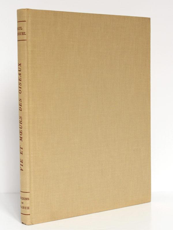 Vie et Mœurs des oiseaux, Paul Barruel. Horizons de France, 1961. Reliure.