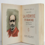 La vérité en marche, Émile Zola. Éditions Albert Guillot, 1948. Frontispice et page titre.