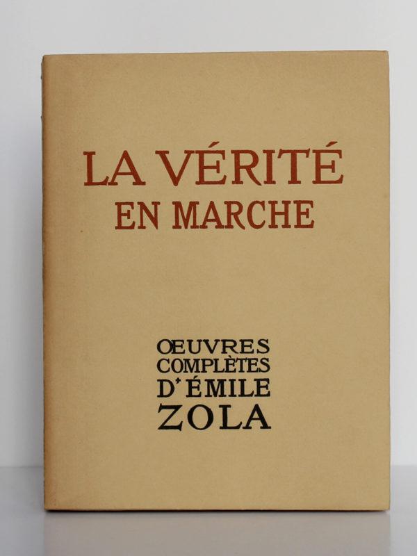 La vérité en marche, Émile Zola. Éditions Albert Guillot, 1948. Couverture.