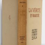 La vérité en marche, Émile Zola. Éditions Albert Guillot, 1948. Couverture dos et plats.