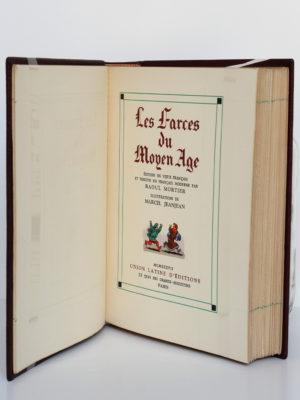Les farces du Moyen-Âge. Union Latine d'Éditions, 1937. Page titre.