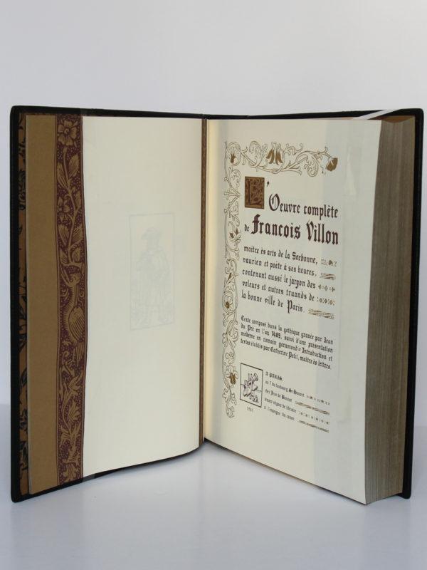 L'Œuvre complète de François Villon. Chez Jean de Bonnot, 1982. Page titre.