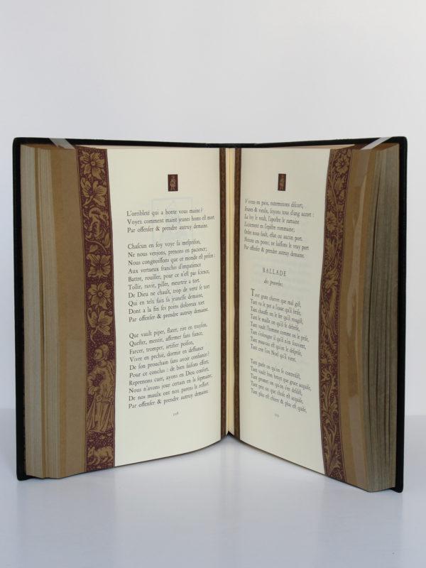 L'Œuvre complète de François Villon. Chez Jean de Bonnot, 1982. Pages intérieures.