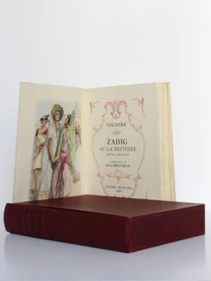 Zadig, Micromégas, Voltaire. Illustrations de Paul-Émile Bécat. Éditions Arc-en-Ciel, 1951. Frontispice et page titre.