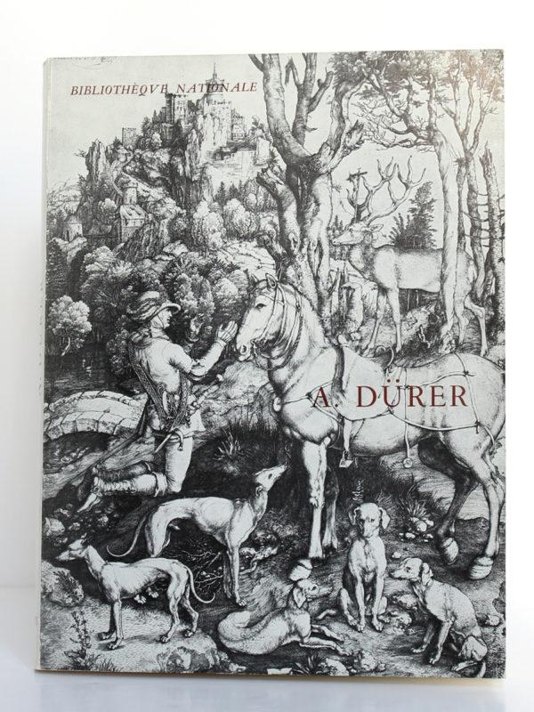 Albert Dürer. Catalogue de l'exposition à la Bibliothèque Nationale en 1971. Couverture.