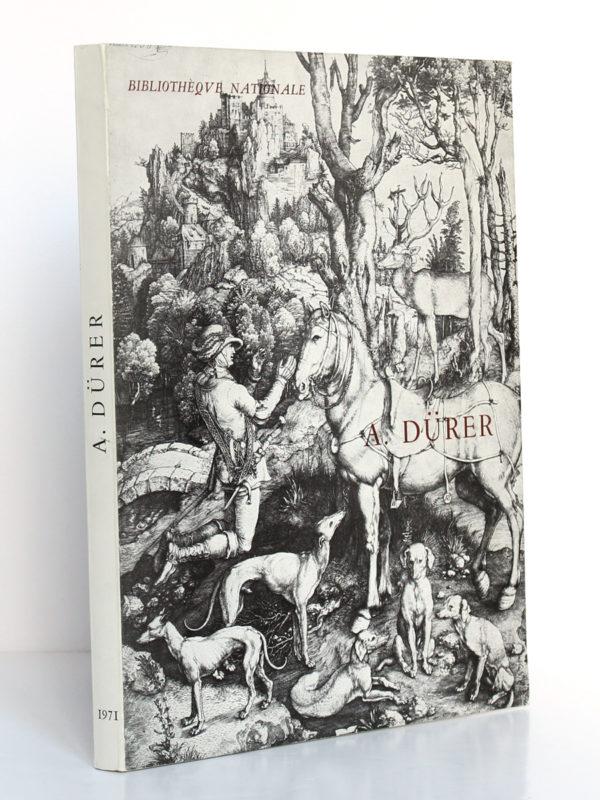 Albert Dürer. Catalogue de l'exposition à la Bibliothèque Nationale en 1971. Couverture : dos et premier plat.