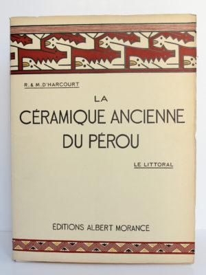 La céramique ancienne du Pérou. Le littoral. R. & M. d'Harcourt. Éditions Albert Morancé, 1924. Couverture d'un volume intérieur.