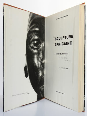 La sculpture africaine de Eliot Elisofon. Fernand Hazan éditeur, 1958. Page titre et frontispice.
