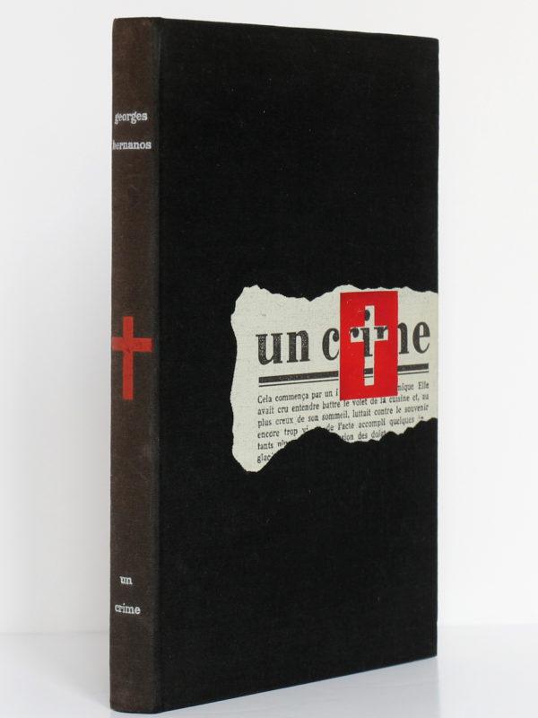 Un crime, Georges Bernanos. Le Club français du livre, 1954. Couverture : premier plat et dos.