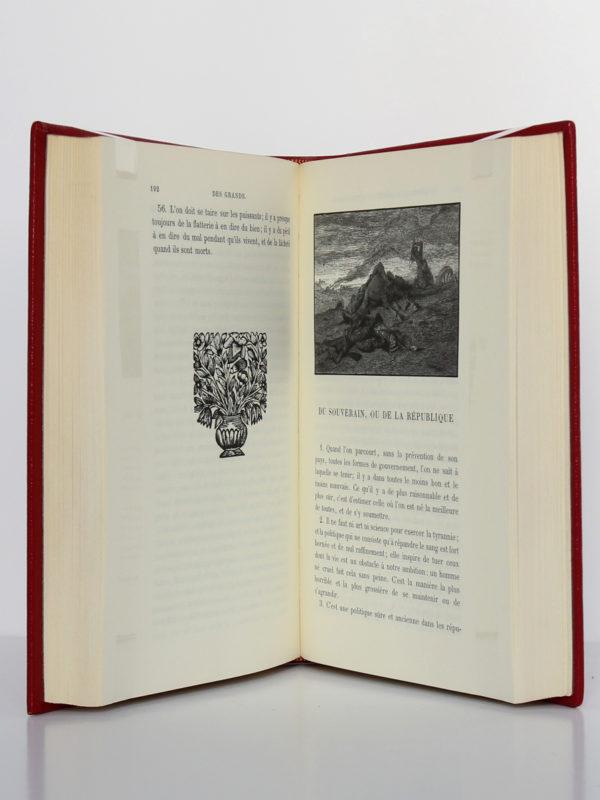 Les Caractères, La Bruyère. Chez Jean de Bonnot, 1972. Pages intérieures 1.