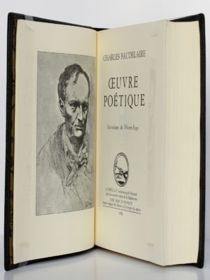 Œuvre poétique, Charles Baudelaire. Chez Jean de Bonnot, 1982. Page titre et frontispice.