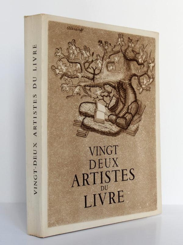 Vingt-deux artistes du livre, Pierre Mornand. Le Courrier graphique, 1948. Couverture : dos et premier plat.