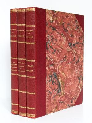 Rome, Pierre Gusman. B. Arthaud, Successeur des Éditions J. Rey, 1934-1935. Trois volumes reliés.