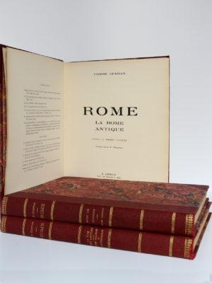 Rome, Pierre Gusman. B. Arthaud, Successeur des Éditions J. Rey, 1934-1935. Page titre du volume 1.